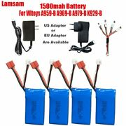 7.4v 1500mah High Capacity Li-po Battery +cable4in1+charger For Jjrc Q39