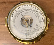 Schatz Brass Ships Compensated Precision Barometer Vintage Made In Germany Guc