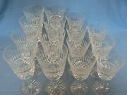 Waterford Baltray Cut 8 Water Goblets And 7 Claret Wine Glasses
