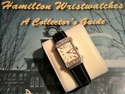 1950and039s Hamilton Mens Top Hat Watch 14k White Gold W/ Diamond Dial And Case