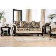 Furniture Of America Esterbrook Chenille Upholstered Sofa In Beige