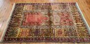 Masterpiece Late 1940and039s Museum Quality Classic Antique Konya Inlice Prayer Rug
