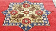 Rare Antique 1930-1940and039s Natural Color Wool Pile Bohemian Runner 2and0395andtimes9and039