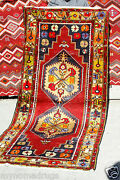 Rare Cr1930-1939s Antique Multi-colored Wool Pile Tribal Area Rug 3and0399andtimes8and0395