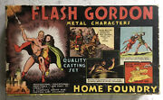 Vintage Flash Gordon Metal Characters Home Foundry Set In Box Toy Circa 1934
