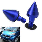 Blue Matte Front Or Rear Bumper Protector Spikes Guards Protectors For Smart Car