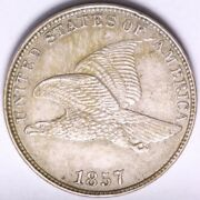 1857 Flying Eagle Cent Penny Ddo America Choice Unc Free Shipping E502 Wnmt
