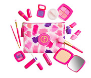 My First Makeup Set, Girls Makeup Kit, Fold Out Makeup Palette With Mirror And -
