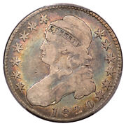 1820 50c Square 2 Large Date Knob 2 Overton 104a Capped Bust Half Dollar Pc...