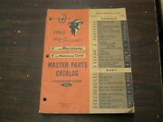 Oem Ford Master Parts Text + Illustrations Book 1965 Mercury Lincoln Comet Nos