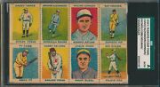 1920and039s Transfer Stamp Ty Cobb / Walter Johnson /vance/ Sisler Panel Sgc A Auth