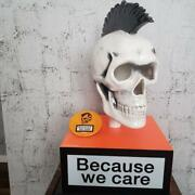 Diesel Mohican Skull Ornament Because We Care Pottery With Pin Badge Novelty F/s