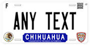 Chihuahua Mexico Any Name Number Novelty Auto Car License Plate C08