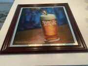 Samuel Adams Beer Mirror Bar Sign Approximately 24x24. Vg Condition.