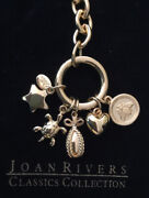 Joan Rivers Status Link Bee Heart Egg Turtle Star Charm Toggle Chain Necklace