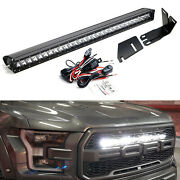 Invisible 30-inch Led Light Bar W/mounting Brackets Wires For 17-21 Ford Raptor