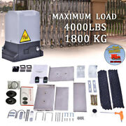 Sliding Electric Gate Opener 4000lb Automatic Motor Remote Kit Heavy Duty Chain