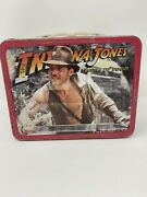 Vintage Indiana Jones And The Temple Of Doom Metal Lunch Box 1984 No Thermos