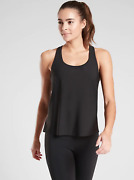 Nwt Athleta Ultimate 2-in-1 Support Top In Black Size Medium M 531149