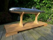 Handmade Metal Xl Model Of Submarine On Stand Only 1 Made Unique Home Decor Art