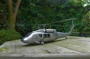 Handmade Metal Xl Model Of Black Hawk Helicopter Only One Made Unique Home Art