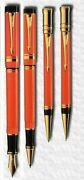 Parker Duofold Pen Set Special Edition Fountain Rollerball Ballpoint Pencil New