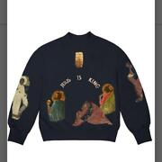 Kanye West Jesus Is King Sweatshirt Navy Size L From Japan Free Shipping