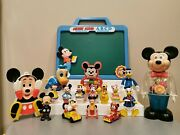 Disney Vintage Toy Lot Mickey Mouse, Donald Duck Arco, Illco, Gabriel, Wind-up