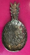 Vintage Brass Pineapple Coin / Change Dish Jewelry/key/candy/nuts Tray W/m Mark