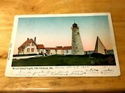 Old Orchard Beach Me The Wood Island Lighthouse Copper Windows . Pc 1907