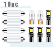 White Led Interior Map Dome Lights Package Kit For Honda Accord 2003-2012 Ha1w