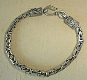 Unsigned Sterling Silver Bracelet 925 7 Inches Long