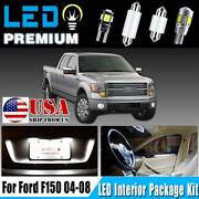 14x White Led Interior Package Kit For Ford F-150 F150 2009-2014 Dome Map Light