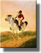Modern Comanche Indian Picture On Stretched Canvas, Wall Art Décor, Ready To Han