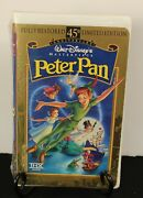 Walt Disney Masterpiece Peter Pan Limited Edition New/sealed Vhs