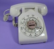 Vintage Working Western Electric 500dm White Desk Rotary Telephone Bell Works