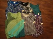 Coldwater Creek Lot Of 6 Ladies Xl Sleeveless Tops New With Tags Originally 300