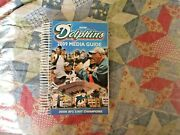 2009 Miami Dolphins Media Guide Yearbook Press Book Program Nfl Football Ad