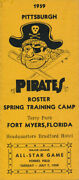 Rare 1959 Pittsburgh Pirates Ticket Guide Pocket Schedule W/roberto Clemente Vtg