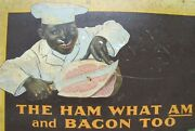 Armourand039s Star Ham And Bacon Antique Advertising Sign The Ham What Am And Bacon Too