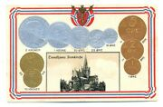 Norway Norwegian Coins On Ad Postcard Ca. 1915 Trondhjems Domkirche Trondheim