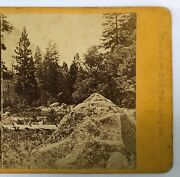 1860s Yosemite California South Dome Ca Stereoview Albumen Photo Old West