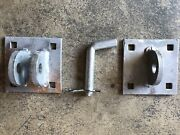 Male And Female T Dock Hardware With Connecting Pin - Hot Dipped Galvanized