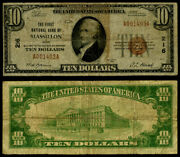 Massillon Oh 10 1929 T-1 National Bank Note Ch 216 First Nb Very Good