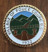 Lapd 1932 Village Of Police Coupe B.c. Seal Lapel Hat Pin