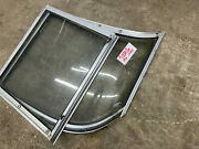 1994 Rinker Captiva 190 Left Side Front Windshield Curved Glass Piece With Door
