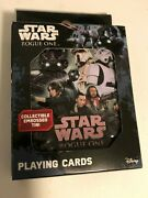 Star Wars Rogue One Playing Cards Collectible Embossed Tin New And Sealed
