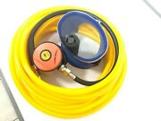 Scuba Snorkeling Diving 2nd Stage Respirator + 50/100 Ft Hose Kit 145psi M101