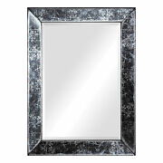 Vintage Style Antiqued Glass Frame Wall Mirror Rustic Gray Industrial Modern