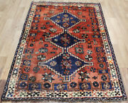 Old Handmade Persian Tribal Rug 165 X 115 Cm Hand Knotted Wool Rug
